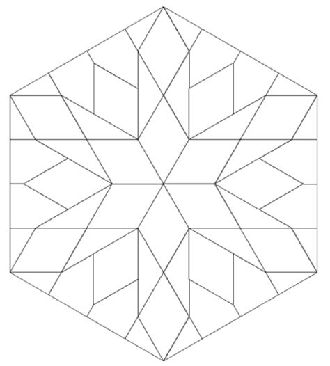 imaginesque: quilt block 9: pattern and template