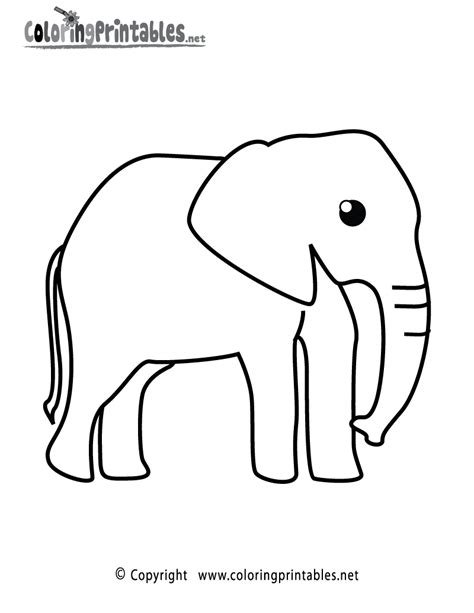 elephant coloring pages to print free coloring pages of elephant winter