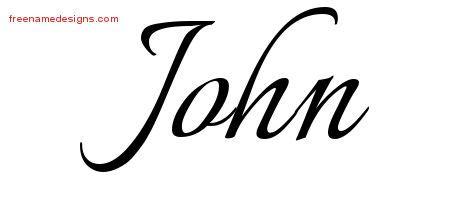 Tattoo Lettering John | calligraphic name tattoo designs john download free free