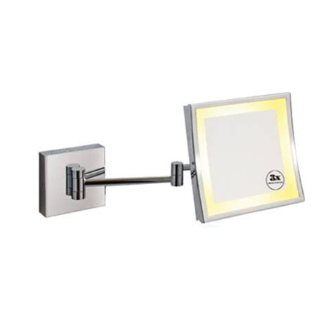 wall mounted lighted magnifying bathroom mirror magnifying wall mounted mirror wfb903 china bathroom