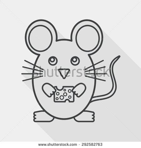 mouse cage card template puppy bow sits cup vector stock vector 587948879