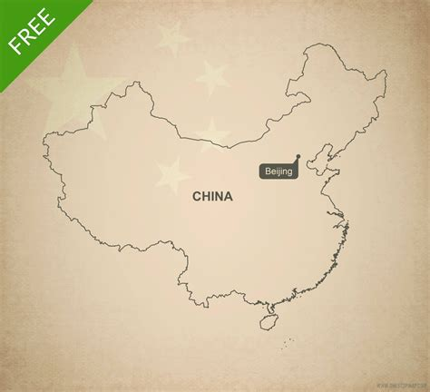 printable maps china free vector map of china outline one stop map