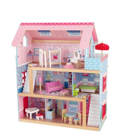 kidkraft chelsea doll cottage play set 65054 the home depot