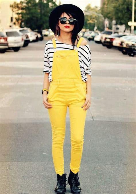 Hoodie Kartun Jidnie Clothing fashion yellow overalls striped shirts happy and