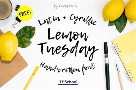 dafont food lemon tuesday handwritten font befonts com