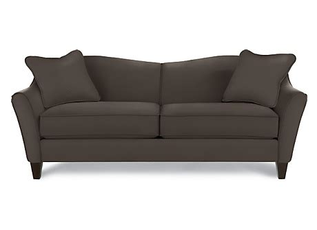 lazy boy demi sofa la z boy demi sofa in steel b957656 accent pillows in