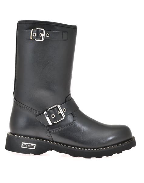 cult boots cult cult zeppelin boot leath blk acc grey s