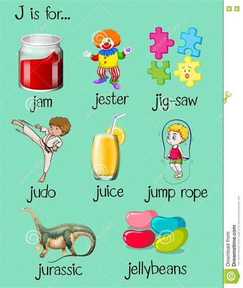 imagenes en ingles con la letra g diversas palabras comienzan con la letra j ilustraci 243 n del