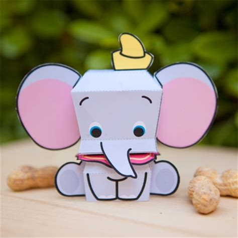Disney Paper Craft - dumbo cutie papercraft disney family
