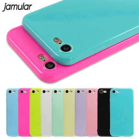 Casing Baseus Jelly Shockproof Silicone Iphone 8 Iphone 7 fashion jelly soft tpu silicone shockproof for iphone 7 6s 6 5s se 8 plus x cell