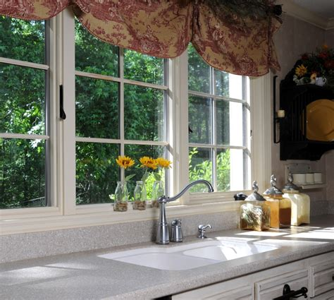 Flower Decor In Window Kitchen Decoration Brilliant Kitchen Window Ideas With Adorable