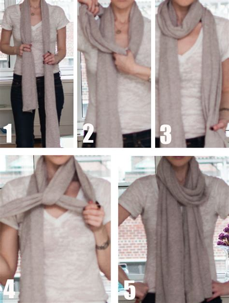 how to drape a scarf around your neck 3 ways to tie a scarf yael steren