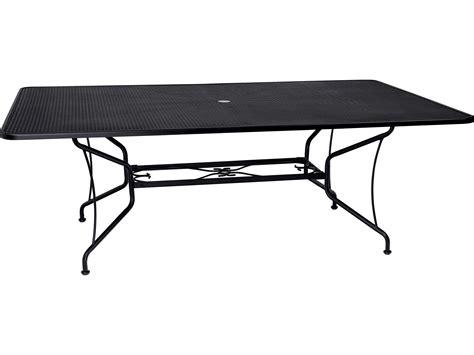 Woodard Wrought Iron 60 x 84 Rectangular Dining Table with