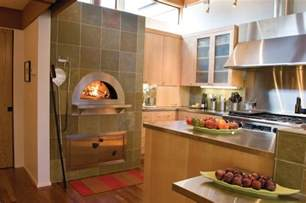 kitchen with pizza oven indoor wood fired pizza ovens modern kitchen other
