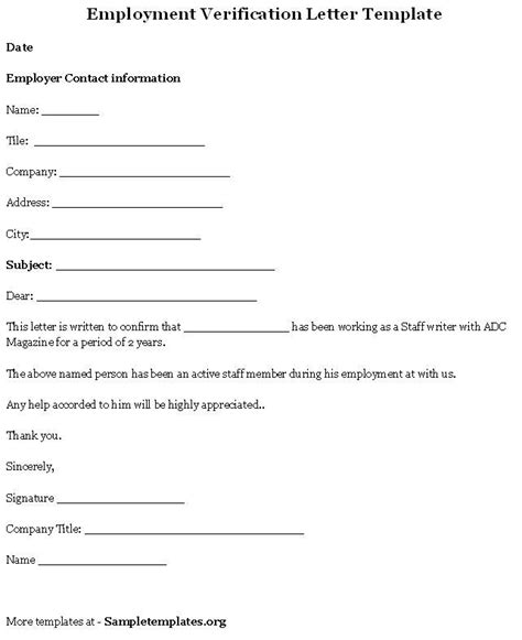 Printable Sle Letter Of Employment Verification Form Laywers Template Forms Online Free Letter Of Employment Template