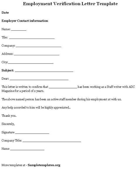 authorization letter employment verification printable sle letter of employment verification form