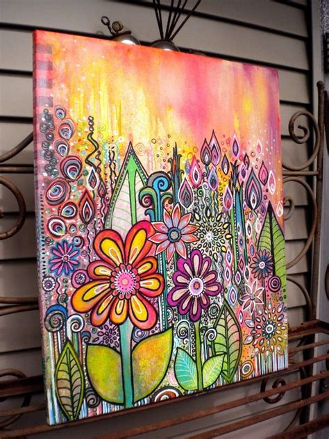 canvas doodle canvas doodle wildflowers2 by robin mead i work