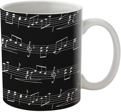 musical notes coffee mug personalized youcustomizeit