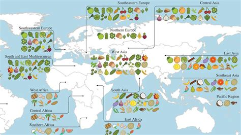 how did s originate a map of where your food originated may you the