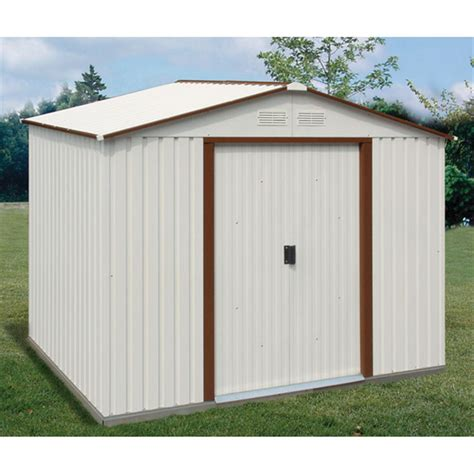 duramax 174 8x6 titan metal shed with foundation 130896