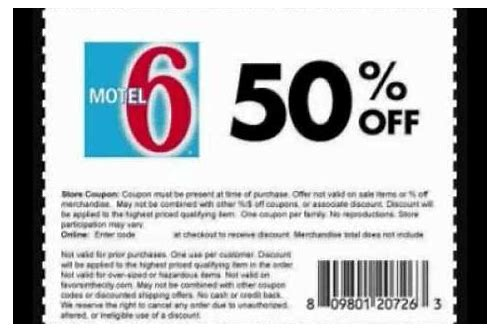 motel 6 coupon codes december 2018