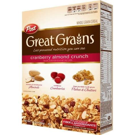 Post Cranberry Almond Crunchpost Cereal post great grains cranberry almond crunch cereal 400gm breakfast cereals gomart pk