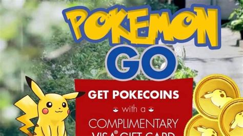 pokemon go get pokecoins with a complimentary visa gift card youtube - Pokecoins Gift Card