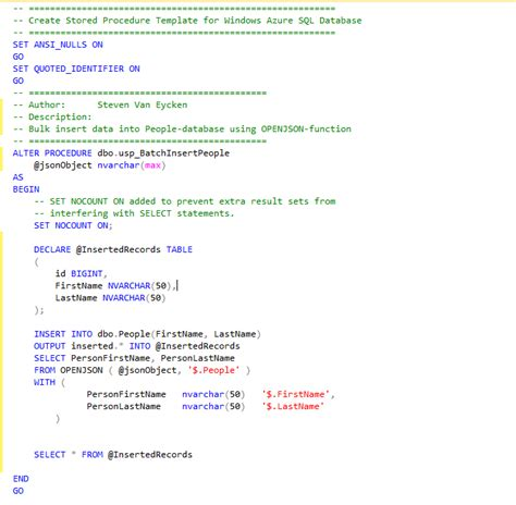 Sql Server Stored Procedure Template by Sql Server Stored Procedure Template Images Template