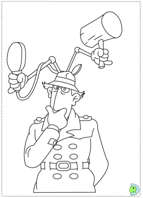 Inspector Gadget Coloring Page Dinokids Org Inspector Gadget Coloring Pages