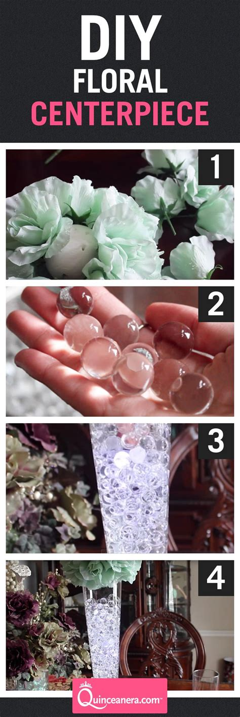 diy quince centerpiece affordable easy