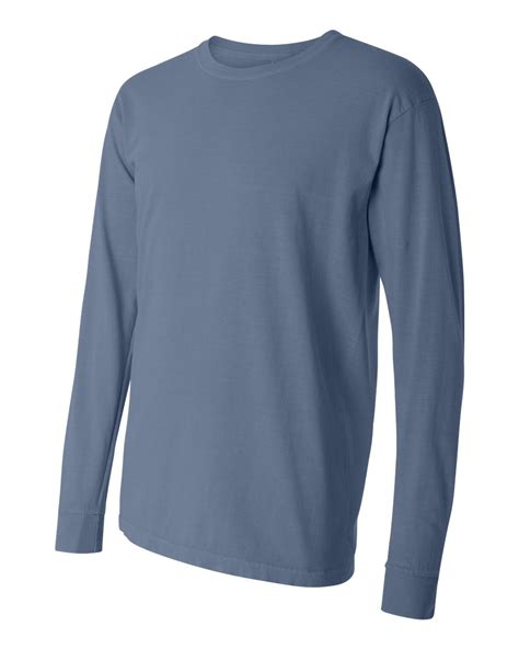 comfort colors long sleeve t shirts comfort colors men s 6 1 ounce ringspun cotton long sleeve