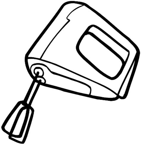 Electric Mixer Drawing