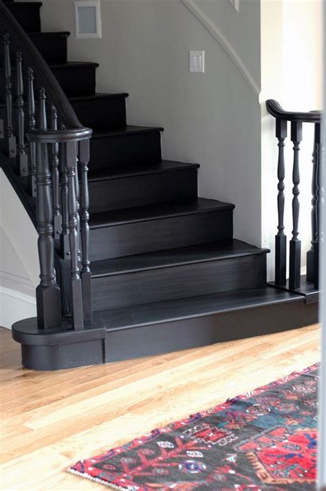 black staircase banister image result for black banister stairwell schody