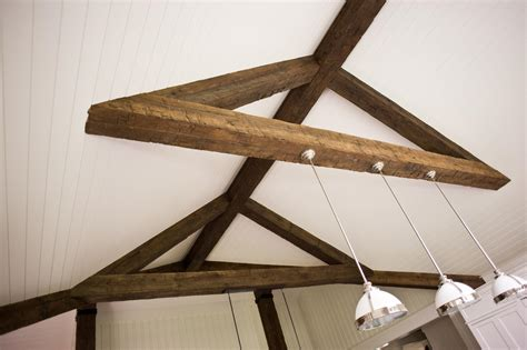 hewn faux beams