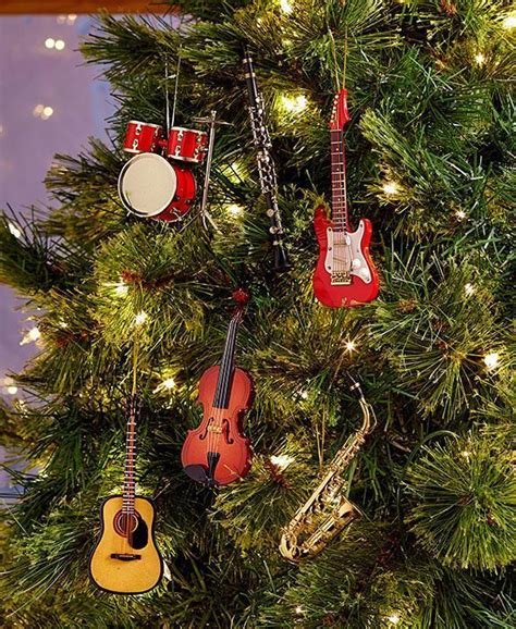 musical instrument christmas tree ornaments saxophone
