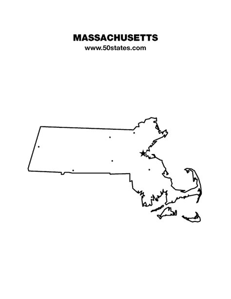 printable map massachusetts massachusetts map
