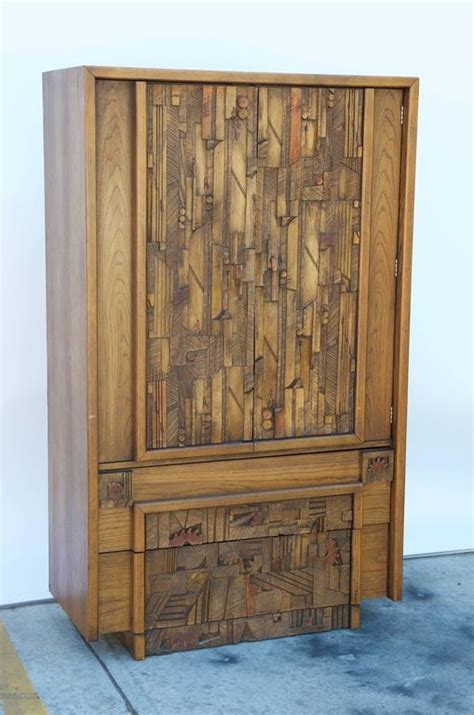 lane furniture armoire carved brutalist armoire by lane for sale at 1stdibs