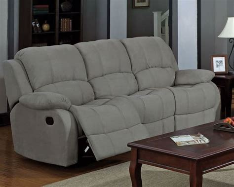 gray microfiber sofa grey microfiber reclining sofa house pinterest