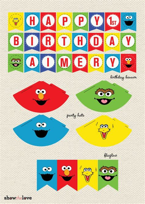 show the love aimery s sesame street party