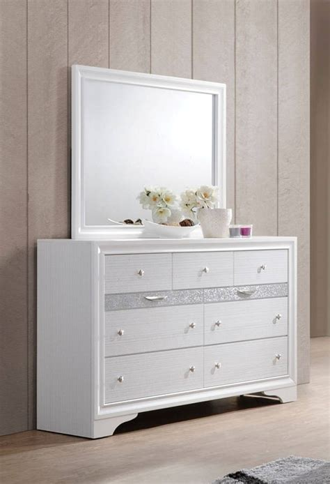 Naima Set acme naima 4pc panel storage bedroom set in white bedroom sets bedroom
