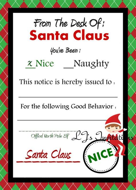 elf on the shelf naughty or nice list printable 17 best images about secret santa on pinterest advent