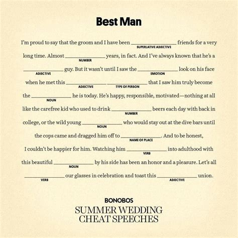 10 Awesome Best Man Speech Ideas Brother 2019