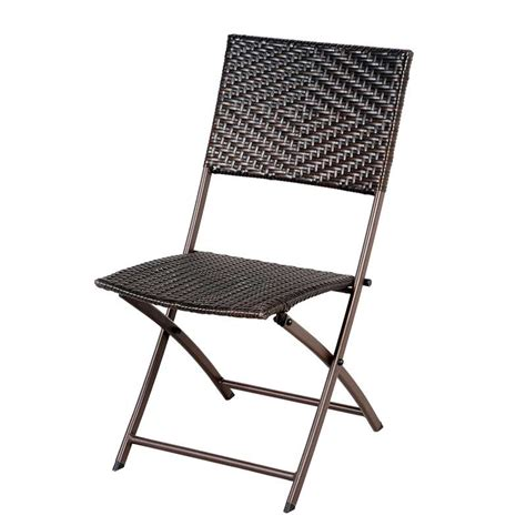 Wicker Bistro Chairs Greenfingers Rattan 2 Folding Chairs 60cm Square Bistro Set