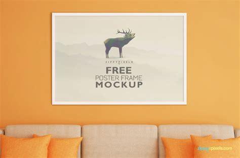 horizontal poster mockup psd templates designyep