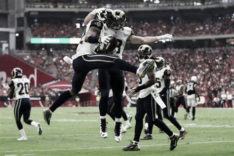 rams to move los angeles rams defeat arizona cardinals 17 13 to move to