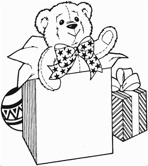 christmas gift coloring page