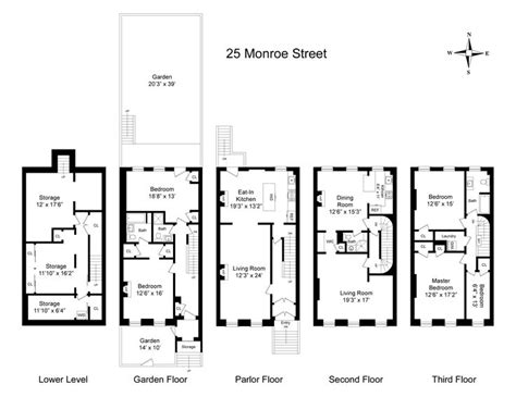 Brownstone House Plans 8 Best Brownstone Floorplans Images On 3 4 Beds Dean O Gorman And Facades
