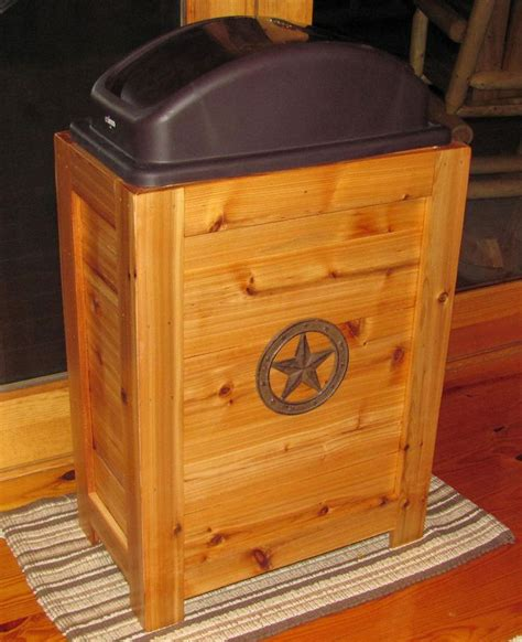wooden kitchen garbage cans new rustic wood kitchen trash bin garbage can 30 gal cabin western decor cedar rustic wood