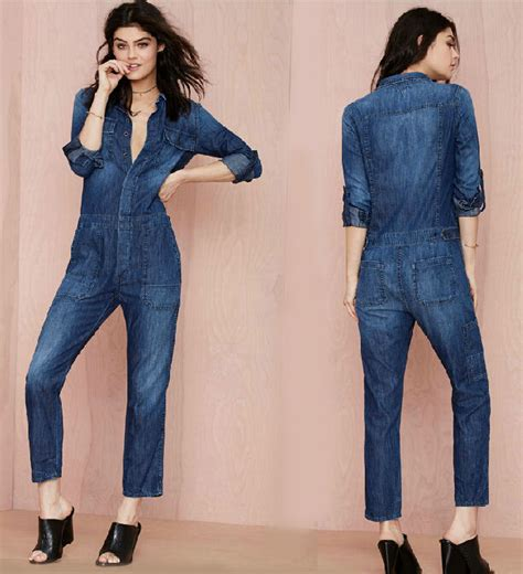 Overall Bf vintage casual denim rompers sleeve overalls bf