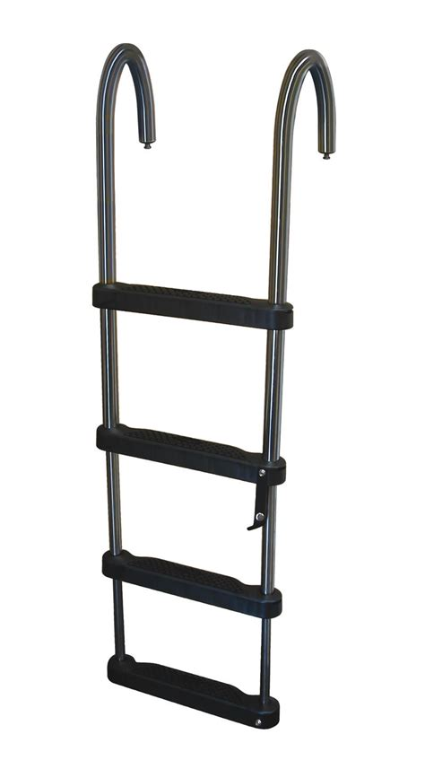 boat ladder removable 3 step stainless steel removable telescoping pontoon